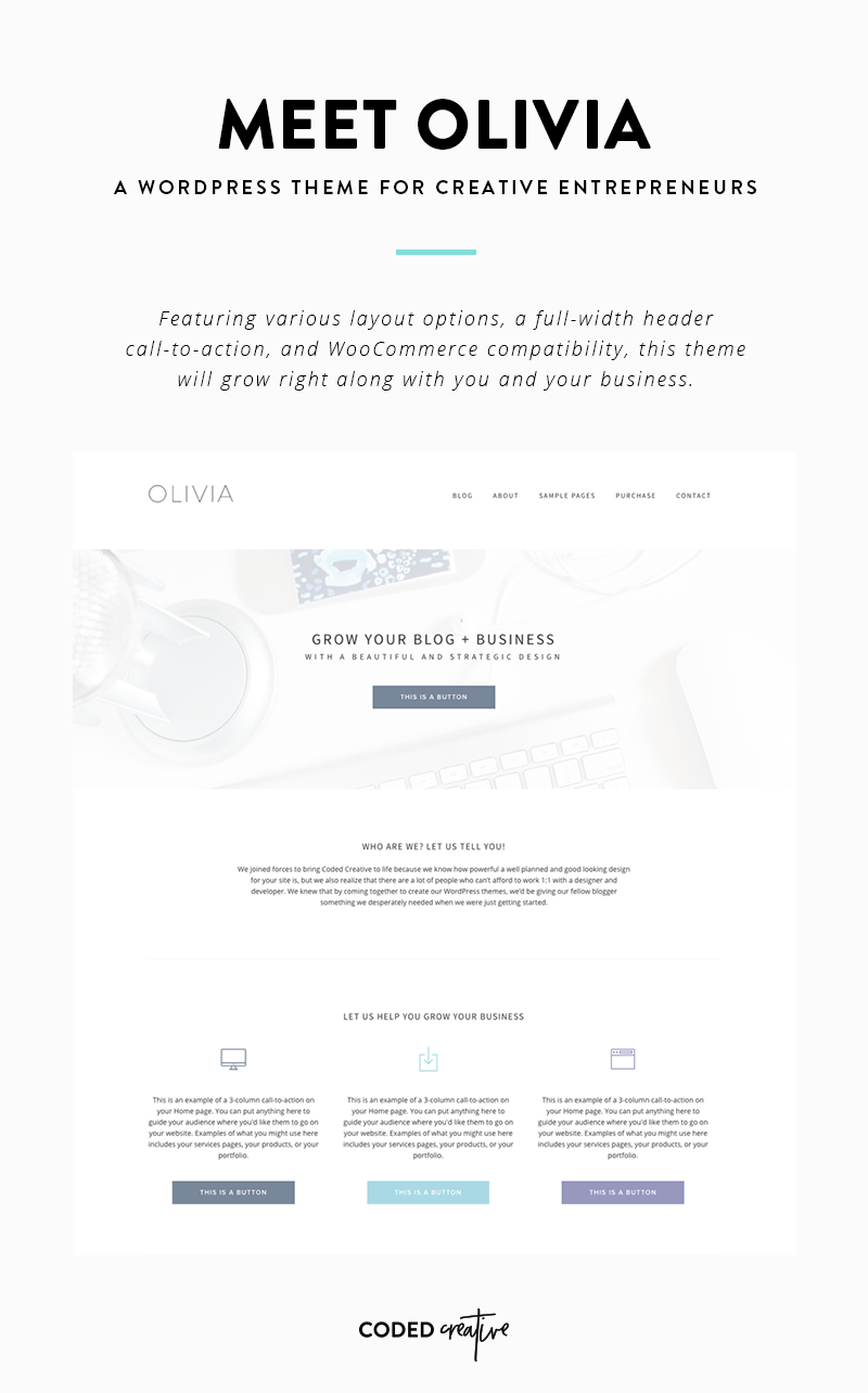 Meet Olivia: A WordPress theme for creative entrepreneurs