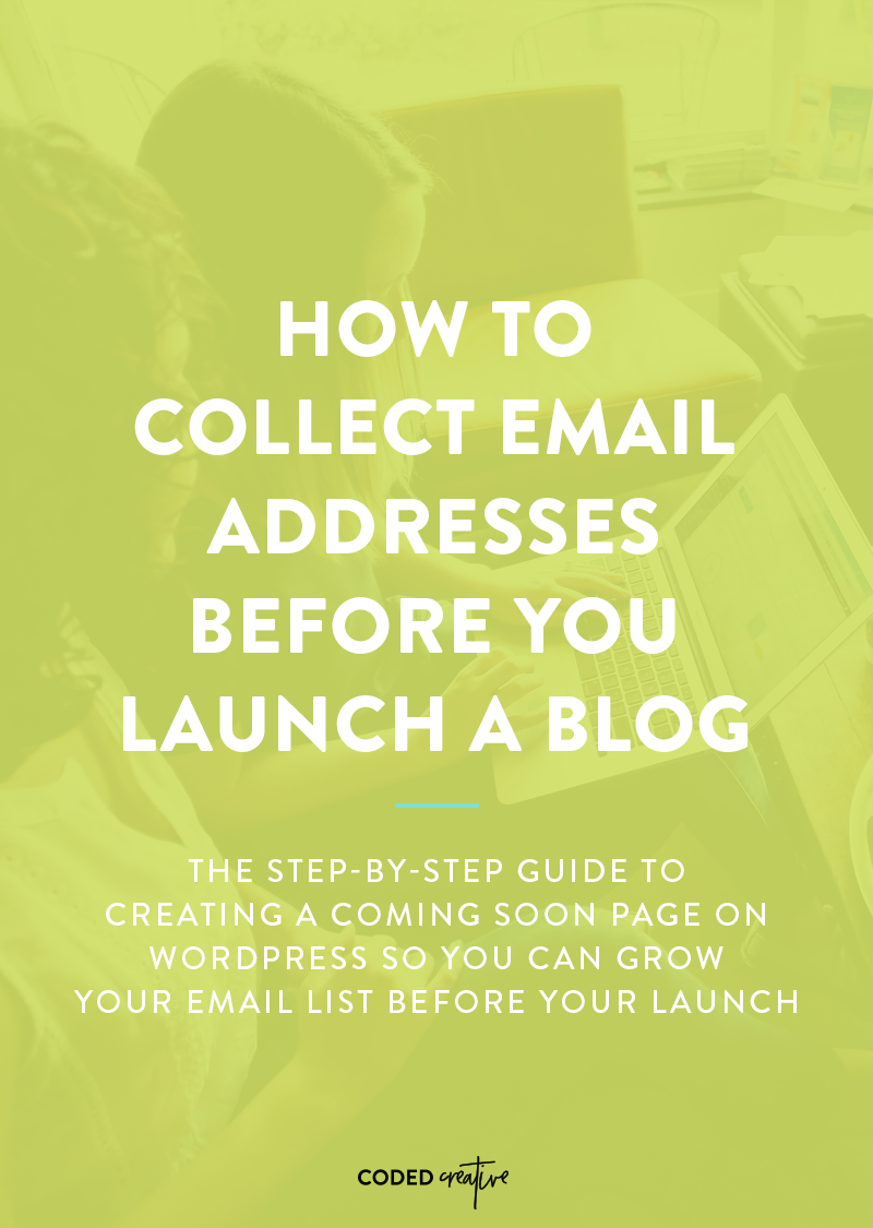 Growing an email list is important, and you don't have to wait until after your launch to get started. Click through to learn how to collect emails before you launch your blog!