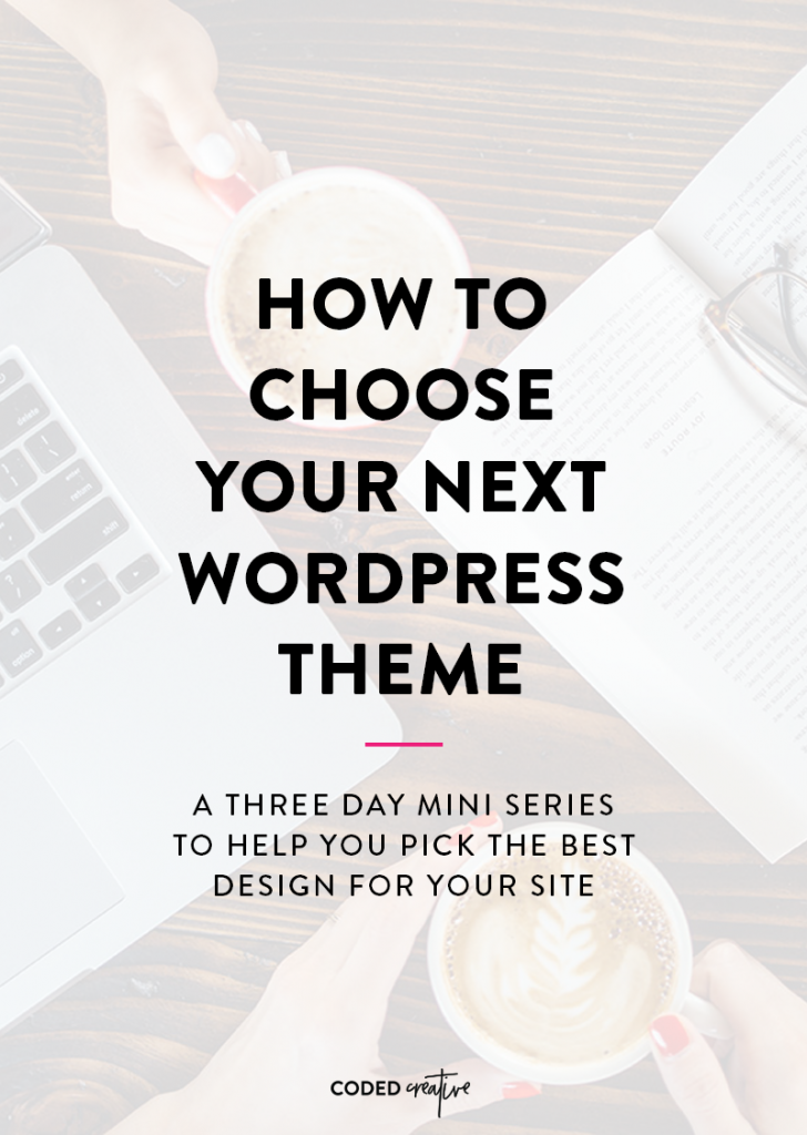 It's never fun to be excited about choosing a new WordPress theme, only to find a month or two down the road that it wasn't the right choice. This 3-day mini series will help you choose the right theme for your WordPress blog!