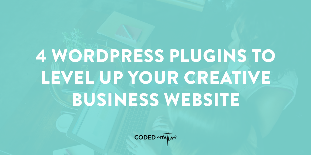 You want to make sure that you have the right plugins on your WordPress site, so click through to read about the 4 best ones to help boost your creative business!