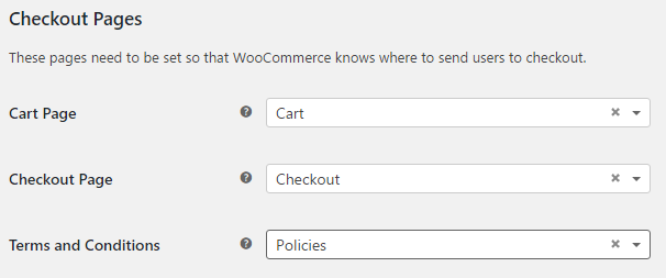 WooCommerce terms and conditions