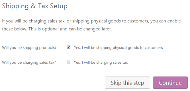 WooCommerce shipping and tax setup