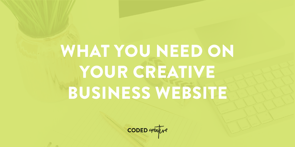What you need on your creative business website