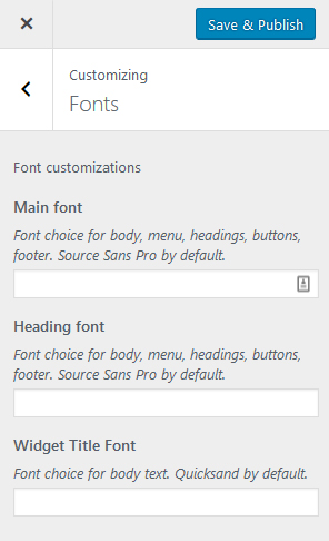 Jade custom fonts