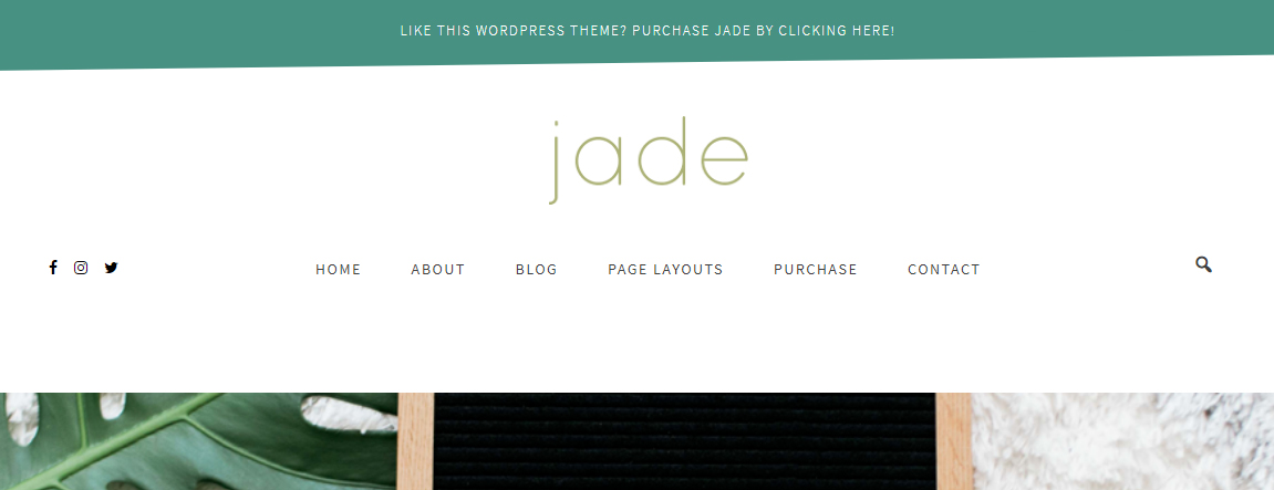 Jade Site-wide Banner
