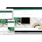 Meet Jade - A WordPress theme featuring two blog layouts, a side-wide banner, customizable homepage, and more to help you grow your business with ease!