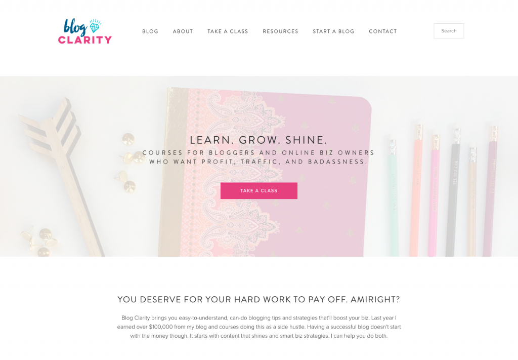Showcase-BlogClarity