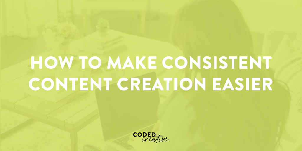 I'm breaking down a few quick and easy tips to help you make content creation easier and a more consistent thing that you're doing for your brand!