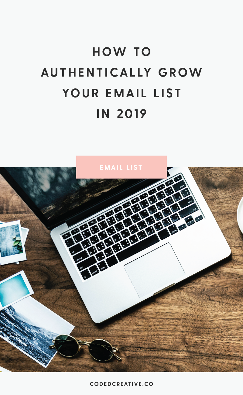 Don't waste time trying to grow your email list with dated trends. Instead, I have 4 tried and true methods to grow your list that will withstand time.