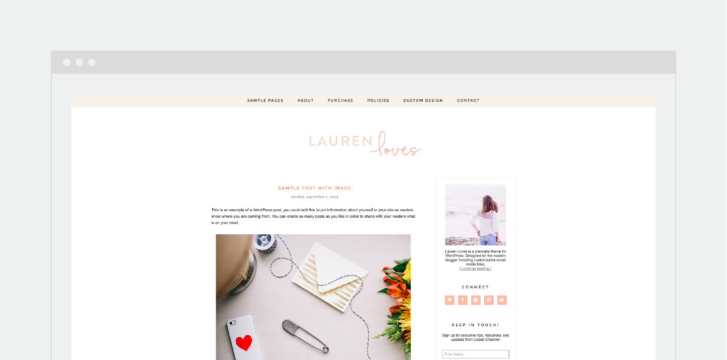 CC_Lauren-Loves-WordPress-Theme