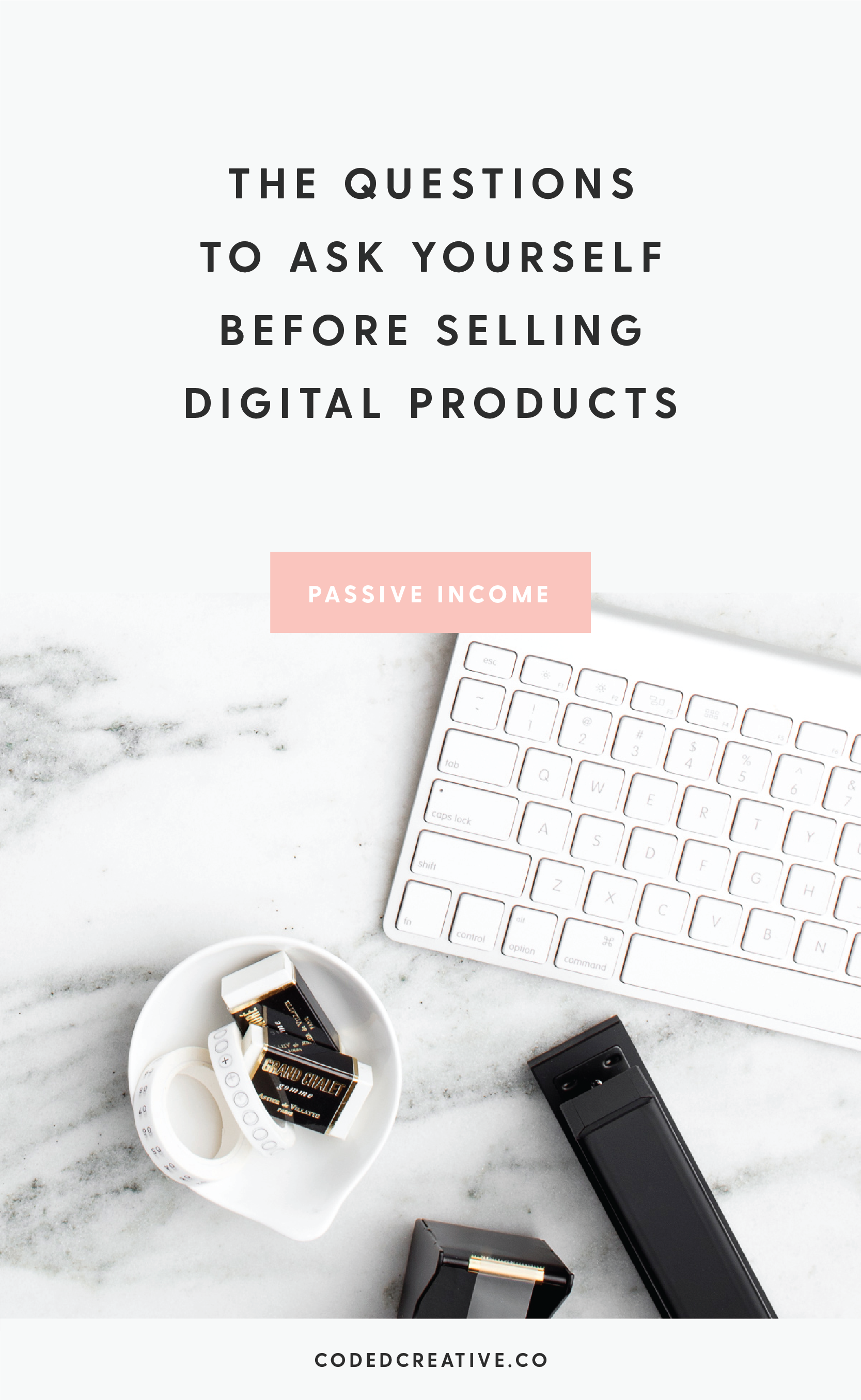 Over the past couple of weeks I've been talking about how lifestyle bloggers can monetize their blog, specifically by creating digital products for their audience. Today I'm giving you five questions to ask yourself before moving forward with creating and selling digital products to your audience.