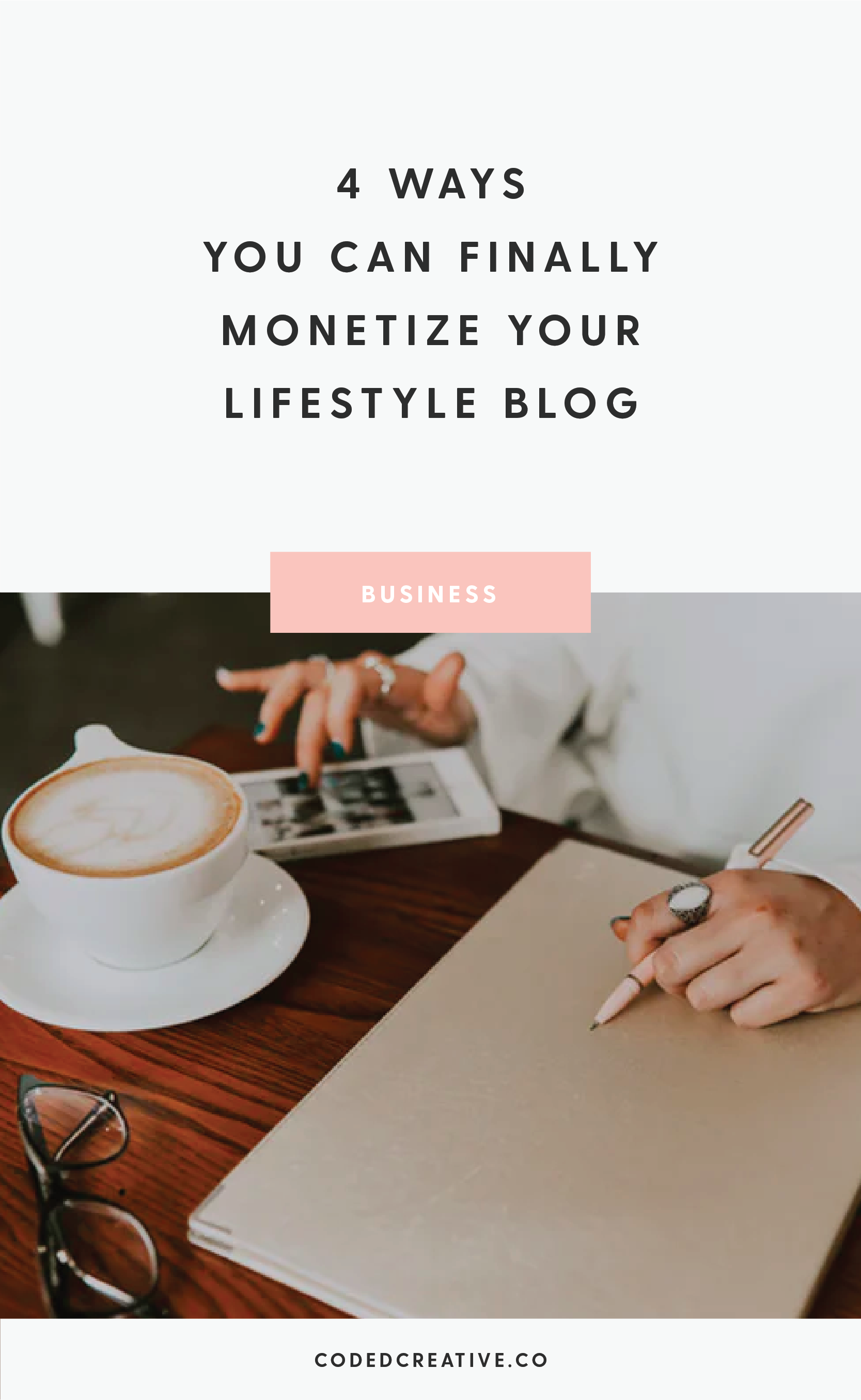 Ready to finally make some money from your lifestyle blog? There are 4 key ways you can monetize your hobby blog, and I'm breaking them down with pros and cons for you today!