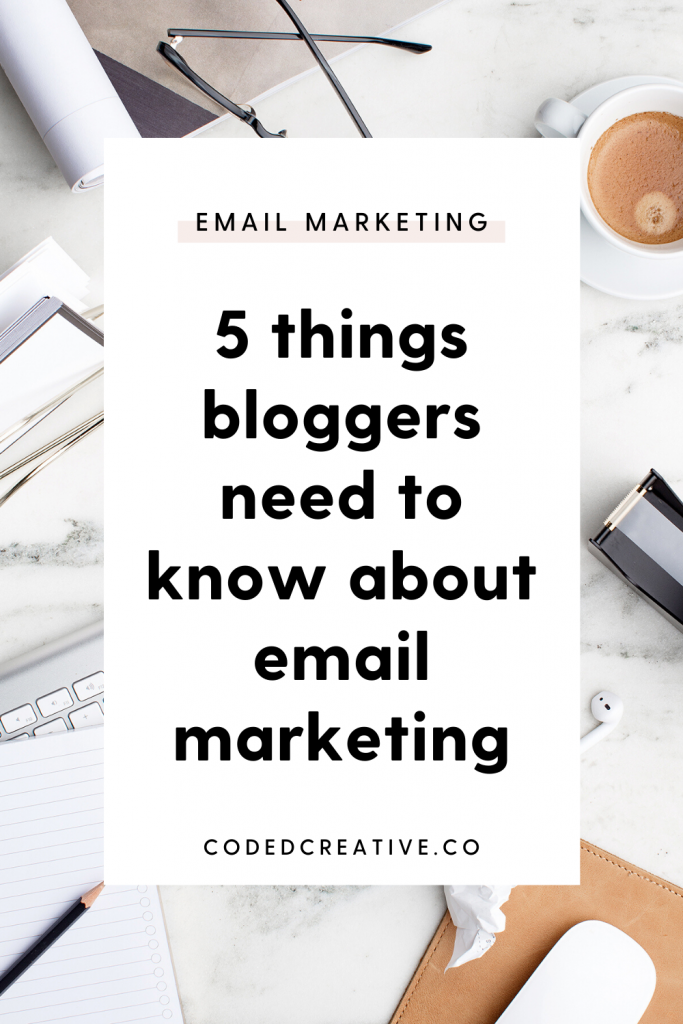 Bloggers should definitely have an email list as well, so I wanted to share the most important things that bloggers need to know when it comes to email marketing.